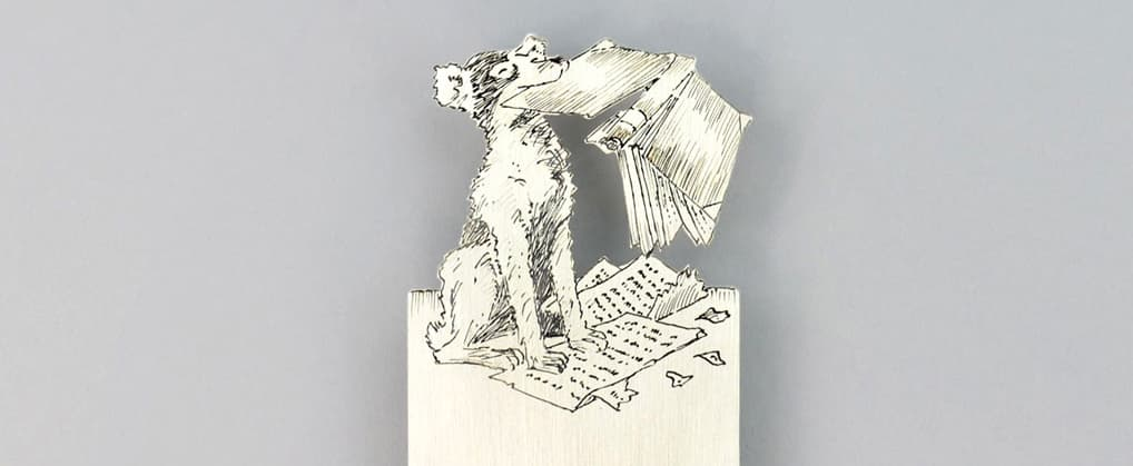 Dog Silver Bookmark